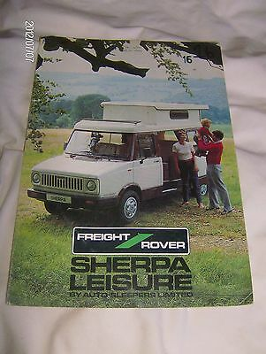 Freight Rover Sherpa Leisure  Sales Brochure 1984 (Fr22)   #frs01