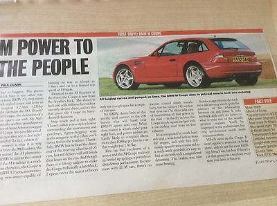 Bmw M Coupe  First Drive  Article  1998  ~Bmwmc01