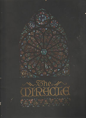 The Miracle 1924 Morris Gest Play Program Max Reinhardt
