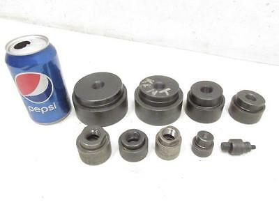 """Greenlee Knockout Conduit Punch Punches Dies 7/8, 3/4, 1, 1-7/32, 1.5"""", 2"""", 2.5"""""""