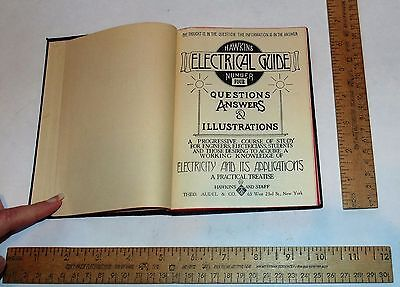 HAWKINS ELECTRICAL GUIDE No 4 - 1929 - illustrated Book - steam punk