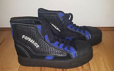 Forest Ice Broomball Shoes Men's Size 8 Winter Traction Blue Black Athletic