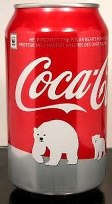 """MT UNOPEN Canadian Coke """"Red"""" Coca-Cola Save Polar Bear Issue 2011 CANADA French"""
