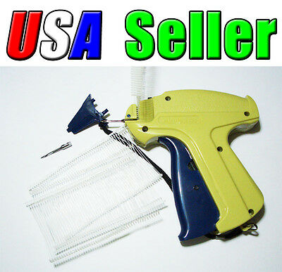 Combo Garment Price Label Tag Tagging Gun + 1000 Barbs 1 Extra Spare Needle