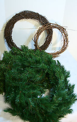 4 CHRISTMAS WREATHS Grape Vine brown & greens VGC