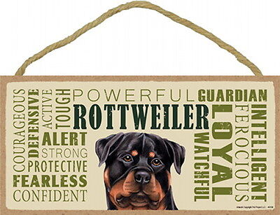 ROTTWEILER Subway Style  5 X10 hanging Wood Sign made in the USA