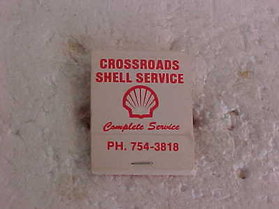 Complete Unused Shell Oil Company Matchbook Crossroads Shell  Irma Alberta