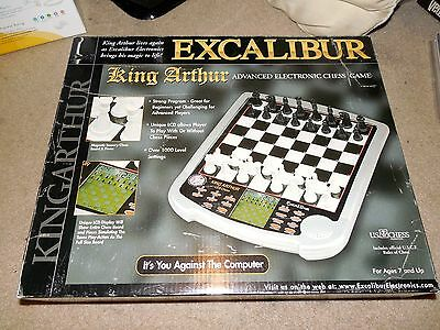 Excalibur King Arthur Advance Electronic Chess Game Works Complete Used