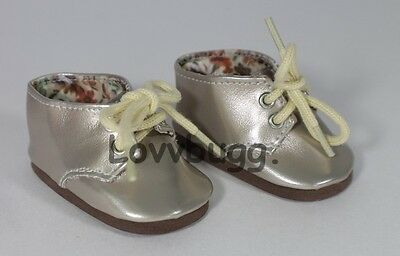 "Lovvbugg Twinkle Toes Oxfords Gold for American Girl 18"" Doll Shoes by Lovvbugg!"