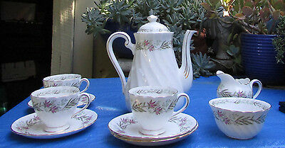 Stunning Vintage Tuscan Bone China Coffee Set Fresco