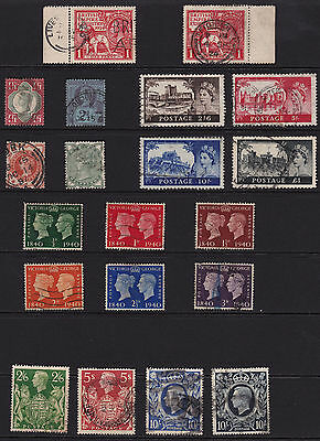 GB Stamps Super High Value Lot from Old Album  Very Good Catalogue Value