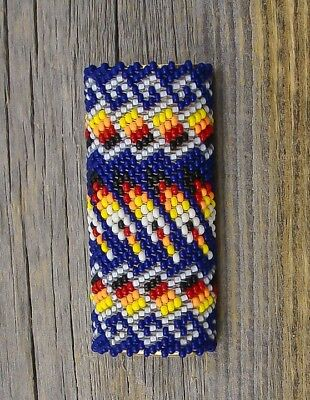 Navy Blue Multi Color Beaded Lighter Case Lucille Ramone