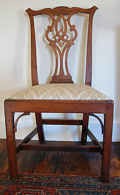 PAIR of Mahogany chairs. Check out photos & description carefully
