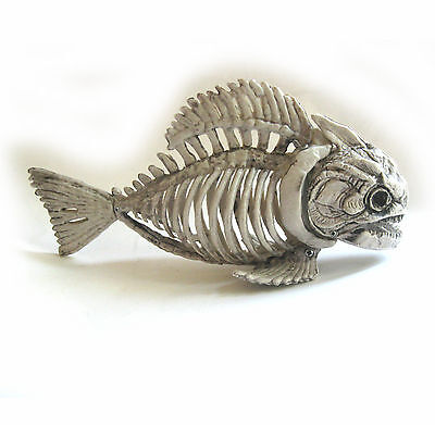 Skeleton Piranha Fish Halloween Party Haunted House Prop 9""