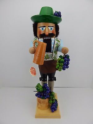 Steinbach Nutcracker Wine Grower New Never Displayed Good Condition Signed b