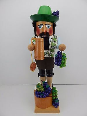 Steinbach Nutcracker Wine Grower New Never Displayed Good Condition Signed c