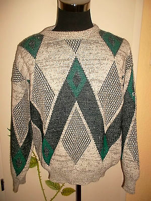 vintage italy 80`s BOSS Strick Pullover Pulli sweater oldschool hipster 50 M/L