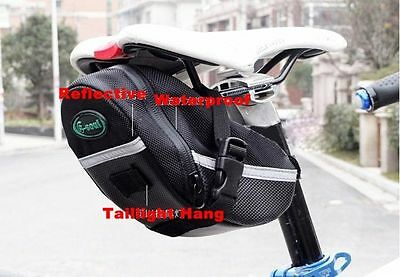 New Cycling Bike Bicycle Rear Seat Saddle Black Tail Bag Quick Release