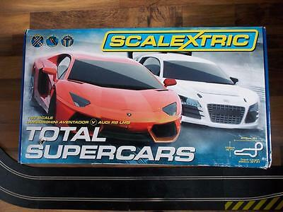 Scalextric Total Supercars Racing Set+Boxed-Complete-Very Large Set-Vgc