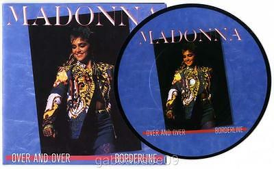 """MADONNA - OVER AND OVER 7"""" PICTURE DISC with POSTER SLEEVE LIMITED EDITION ITALY"""