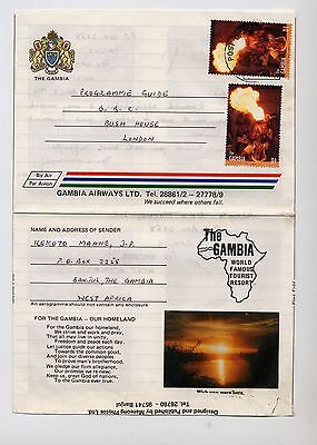 1996 Gambia Pictorial Aerogramme / Air Letter.