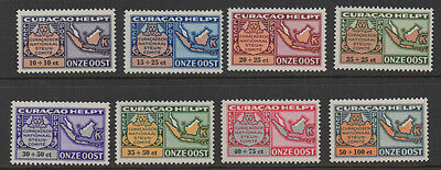 Curacao,1946, SG240/247 Air - National Relief Fund full set unmounted mint.