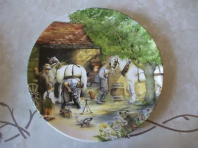 Royal Doulton Collectors plate Old Country Crafts The Blacksmith by Susan Neale