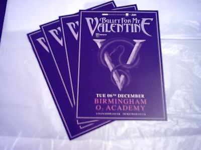BULLET FOR MY VALENTINE - UK TOUR 2016 (4 x PROMO SHOW CARDS)