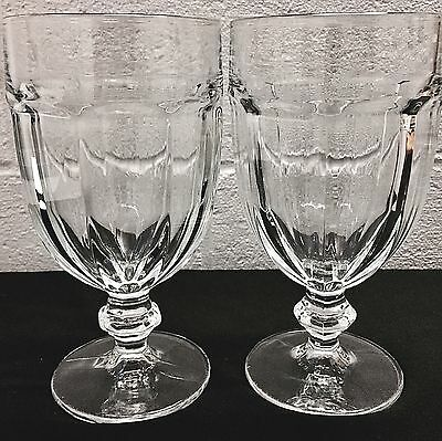 Set of 2 Duratuff U.S.A. Large Clear Gibraltar Goblets