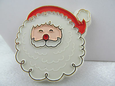 Vintage 1980's HALLMARK PIN  ADORABLE SANTA CLAUS FACE, Christmas, Lovely