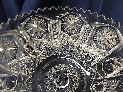 Lovely Imperial Glass  ~Files and Stars Pattern~ Bonbon Bowl  with Handles