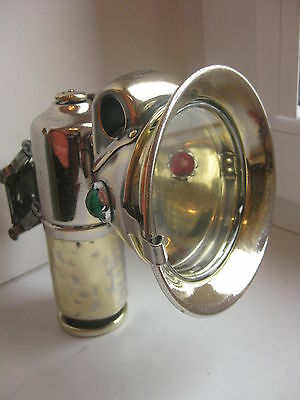 """Antique French BRASS CARBIDE ACETYLENE bicycle lamp """"Luxor""""Excellent."""