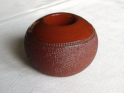 Antique Brown Stoneware Match Holder/striker –Possibly By Royal Doulton.