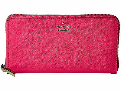 Kate Spade Cameron Street Lacey Leather Wallet Pink Confetti New NWT