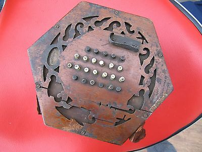 Lachenal Concertina In Distressed Condition For Spares Or Restoration.
