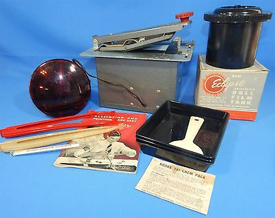 Vintage Compco Thermometer Trays Eclipse Daylight Development Roll Film Tank Lot