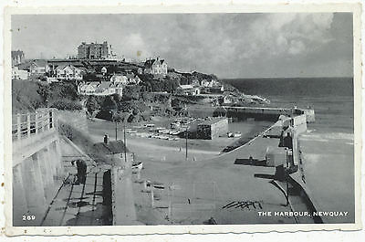 The Harbour, Newquay, 1962 postcard