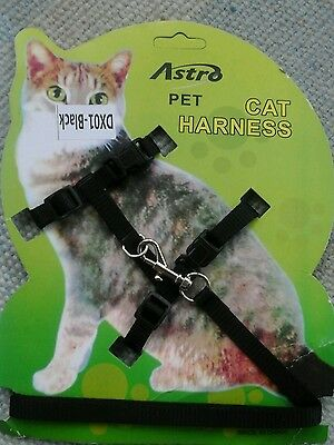 New Cat Harness and Lead in Black