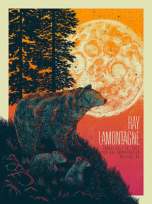 Ray Lamontagne - 2016 - Raleigh - Nc- John Vogl - Red Hat Amphitheater - Poster