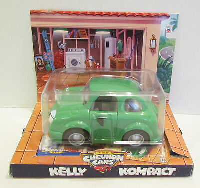 The Chevron Cars 1998 Kelly Kompact Compact Toy Car Mib Unused Green Anthro Toy