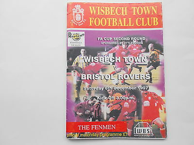 WISBECH TOWN v BRISTOL ROVERS  1997-98 FA Cup Round Two