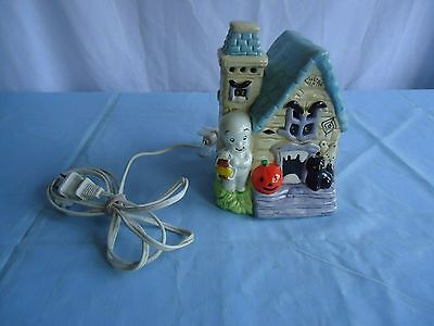 Casper Ghost Halloween Ceramic Lighted Haunted House