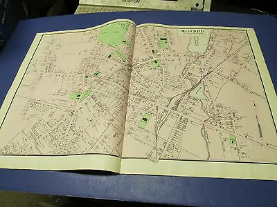 Antique 1870 map Milford  center  Ma. by Beers.