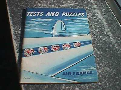 Air France - On Board Tests and Puzzles Booklet, 1957