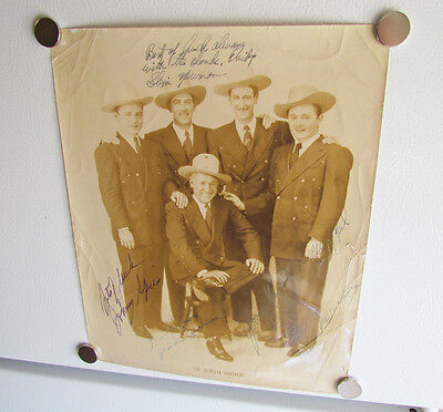 The Georgia Crackers Autographed Country Music Photo Newman Brothers Slim Hank