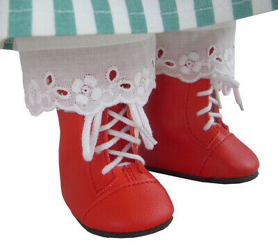 """Doll Clothes fits 18"""" American Girl Red 1800 Steeple Boots Accessories Kirsten"""
