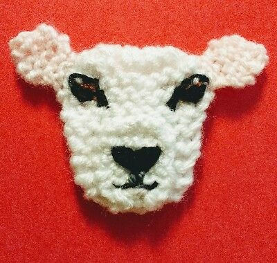knitted texel sheep brooch NEW !