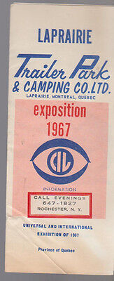 LaPrairie Trailer Park & Camping Exposition 1967 Brochure Montreal Canada