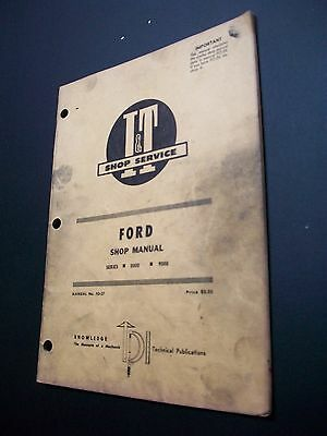 Ford Tractor I&t Shop Manual #fo-27  Series 8000 9000 1971