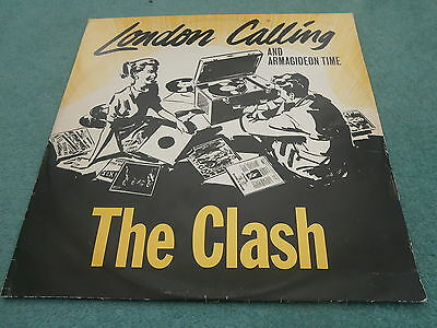 The Clash London Calling Armagideon Time 12-8087 Joe Strummer Punk New Wave 12""
